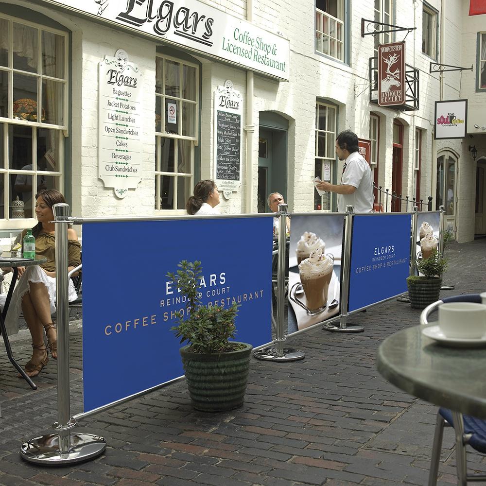 Cafe Barrier System Big Value Banners