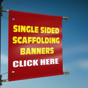 Single Sided Scaffolding Banners